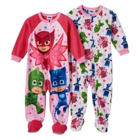 dc82188020 Set of 2 PJ MASKS Fleece Blanket Pajama Sleepers